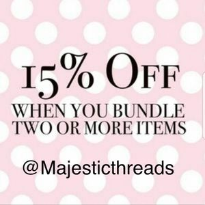 Bundle 2 Items and Save 15% Automatically!